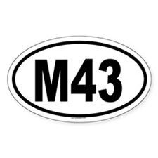 M43 Oval Decal
