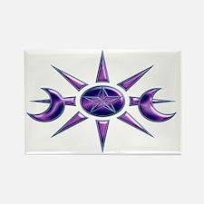 Purple & Blue Pentacle Rectangle Magnet