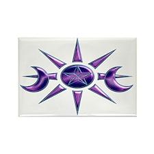 Purple & Blue Pentacle Rectangle Magnet (100 p