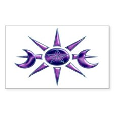 Purple & Blue Pentacle Rectangle Decal
