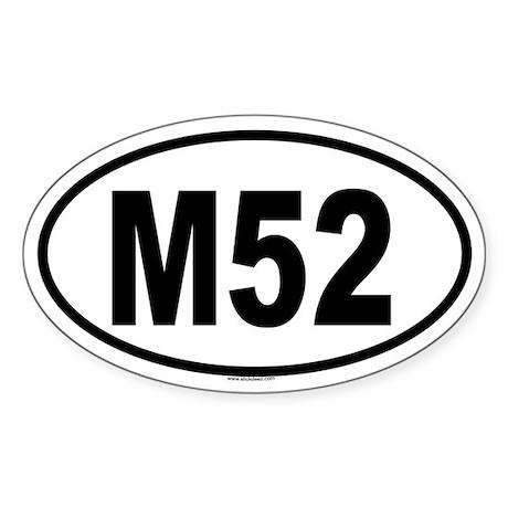M52 Oval Sticker