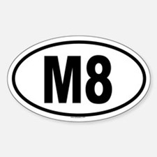 M8 Oval Decal