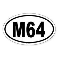 M64 Oval Decal