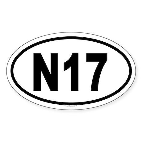 N17 Oval Sticker
