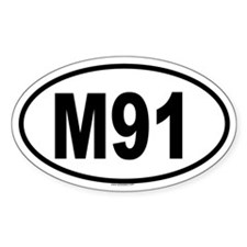 M91 Oval Decal