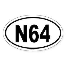 N64 Oval Decal