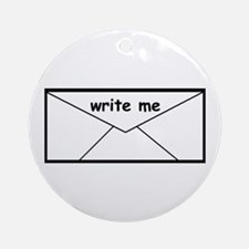 WRITE ME Ornament (Round)