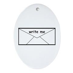 WRITE ME Oval Ornament