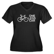 One less car - cycling Women's Plus Size V-Neck Da