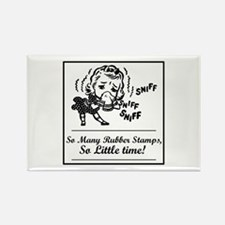 So Many Rubber Stamps, So Lit Rectangle Magnet