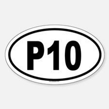 P10 Oval Decal