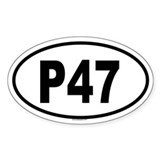 P47 Bumper Stickers