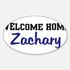 Welcome Home Zachary Oval Decal