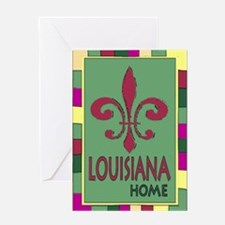 Louisiana Home Flag Greeting Card