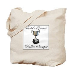World's Greatest Rubber Stamp Tote Bag