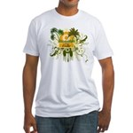 Palm Tree Cuba Fitted T-Shirt
