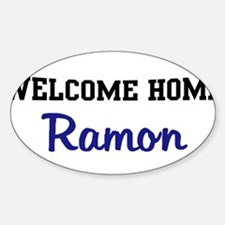 Welcome Home Ramon Oval Decal