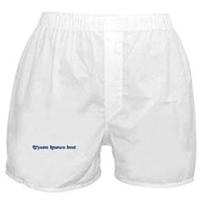 Tyson knows best Boxer Shorts