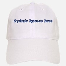 Sydnie knows best Baseball Baseball Cap