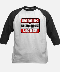 Wheaten Terrier LICKER Kids Baseball Jersey