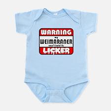 Weimaraner LICKER Infant Bodysuit