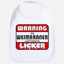 Weimaraner LICKER Bib