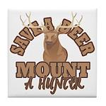 Save a Deer Tile Coaster