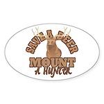 Save a Deer Oval Sticker