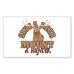 Save a Deer Rectangle Sticker 10 pk)
