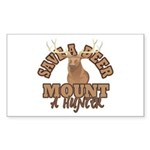 Save a Deer Rectangle Sticker