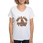 Save a Deer Women's V-Neck T-Shirt