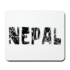 Nepal Faded (Black) Mousepad