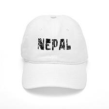 Nepal Faded (Black) Baseball Cap