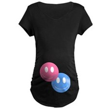 Girl & Boy Twins Maternity Dark Top