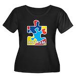 Autism Puzzle Piece 3 Women's Plus Size Scoop Neck