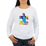 Autism Puzzle Piece 3 Women's Long Sleeve T-Shirt