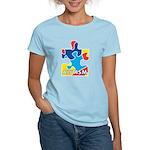 Autism Puzzle Piece 3 Women's Light T-Shirt