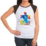 Autism Puzzle Piece 3 Women's Cap Sleeve T-Shirt