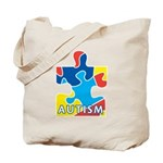 Autism Puzzle Piece 3 Tote Bag