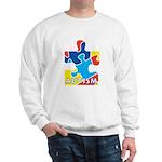 Autism Puzzle Piece 3 Sweatshirt