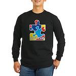 Autism Puzzle Piece 3 Long Sleeve Dark T-Shirt