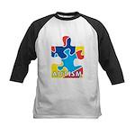 Autism Puzzle Piece 3 Kids Baseball Jersey