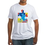 Autism Puzzle Piece 3 Fitted T-Shirt