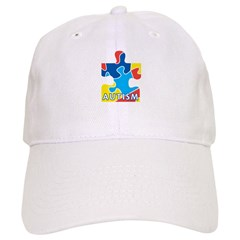 Autism Puzzle Piece 3 Baseball Cap