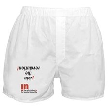 Join the revolution Boxer Shorts