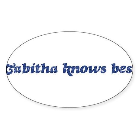 Tabitha knows best Oval Sticker