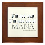 Out of Mana Framed Tile