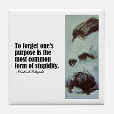 "Nietzsche ""To Forget"" Tile Coaster"