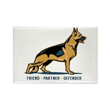 German Shepherd Friend Rectangle Magnet (100 pack)