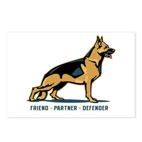 German Shepherd Friend Postcards (Package of 8)